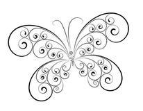 abstrakcjonistycznego motyliego koloru odosobniony biel Fotografia Stock