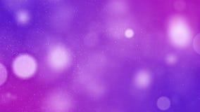 Abstrakcjonistycznego mrugania bokeh rozjarzonego Błyskotliwego tła purpurowe błękitne cząsteczki odkurzają z chodzeniem i rozmig ilustracja wektor