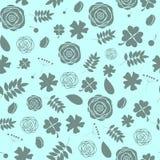 Abstrakcjonistycznego Naturalnego kwiatu Bezszwowy wzór Zdjęcia Royalty Free