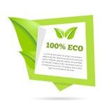 Abstrakcjonistycznego naturalnego zielonego sztandaru stylizowana mowa Obraz Stock