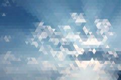 Abstrakcjonistycznego niebieskiego nieba Geometryczny Trójgraniasty Niski Poli- Zdjęcia Stock