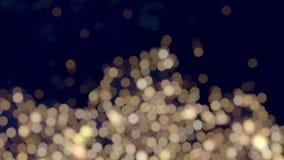 abstrakcjonistycznego okamgnienia bokeh bożonarodzeniowe światła ciepły biały tło zdjęcie wideo