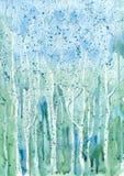 abstrakcjonistycznego okulary tła green niebieski płyn przypomina lodu Zdjęcia Stock