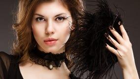 abstrakcjonistycznego pięknego wizerunku mody różę srebra kobieta uśmiechnięta Zdjęcia Royalty Free