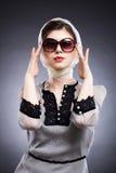 abstrakcjonistycznego pięknego wizerunku mody różę srebra kobieta uśmiechnięta Zdjęcie Stock