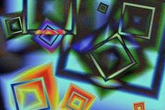 abstrakcjonistycznego pojęcia tła zielone łąki trawy niebieskie niebo Obraz Stock