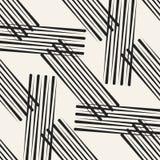 Abstrakcjonistycznego pojęcia wektorowy monochromatyczny geometryczny wzór Czarny i biały minimalny tło Kreatywnie ilustracyjny s Fotografia Stock