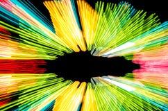 Abstrakcjonistycznego prędkość ruchu lekkie linie Obraz Stock