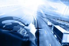 Abstrakcjonistycznego projekta międzynarodowy transport i autostrada Fotografia Royalty Free
