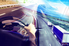 Abstrakcjonistycznego projekta międzynarodowy transport i autostrada fotografia stock