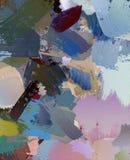 Abstrakcjonistycznego psychodelicznego grunge tła graficzny przestylizowanie na textured kanwie chaotyczni rozmyci uderzenia i ud ilustracja wektor