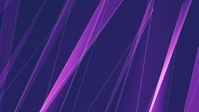 Abstrakcjonistycznego purpurowego poligonu netto linie chmurnieją animaci tła ilości technologii nowego dynamicznego ruchu koloro zbiory wideo