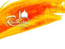 Abstrakcjonistycznego religijnego Ramadan kareem akwareli jaskrawy tło Zdjęcia Stock