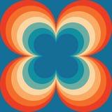 Abstrakcjonistycznego Retro Bezszwowego Backround Pomarańczowego Błękitnego rocznika Bezszwowy Deseniowy Wielostrzałowy wzór ilustracji