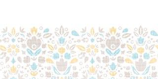 Abstrakcjonistycznego rocznika ornamentacyjni tulipany tekstylni Obrazy Stock