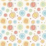 Abstrakcjonistycznego rocznika wektorowy bezszwowy wzór - barwi c Fotografia Royalty Free