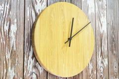 Abstrakcjonistycznego round drewniany zegar ilustracji