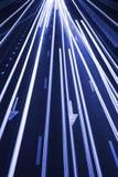 Abstrakcjonistycznego ruch drogowy Drogowy tło, błękit Tonujący/ Obraz Royalty Free