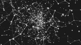 Abstrakcjonistycznego ruchu pętli Bezszwowy tło z kropkami i liniami ilustracja wektor