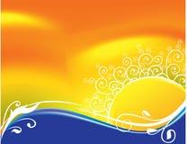 Abstrakcjonistycznego słońca tła wektoru kwiecisty ilustrator Obrazy Royalty Free