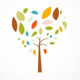 Abstrakcjonistycznego serca Kształtny drzewo Zdjęcia Stock