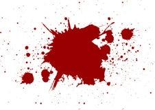 Abstrakcjonistycznego splatter czerwony kolor na białym koloru tle, odizolowywa ilustracja wektor