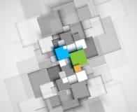 Abstrakcjonistycznego struktura obwodu sześcianu technologii biznesu komputerowy bac Zdjęcia Stock