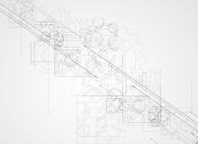 Abstrakcjonistycznego struktura obwodu sześcianu technologii biznesu komputerowy bac Fotografia Stock