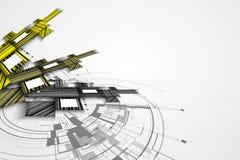 Abstrakcjonistycznego struktura obwodu sześcianu technologii biznesu komputerowy bac Obraz Royalty Free