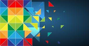 Abstrakcjonistycznego struktura obwodu trójboka technologii komputerowy biznes ilustracja wektor