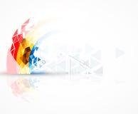 Abstrakcjonistycznego struktura obwodu trójboka technologii komputerowy biznes royalty ilustracja