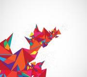 Abstrakcjonistycznego struktura obwodu trójboka technologii komputerowy biznes Zdjęcia Royalty Free