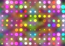 Abstrakcjonistycznego stubarwnego kalejdoskopu confetti rozjarzony rozmyty wzór ilustracji