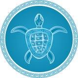 abstrakcjonistycznego symbolu żółw royalty ilustracja
