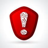 Abstrakcjonistycznego symbolu ostrzegawczy niebezpieczeństwo royalty ilustracja