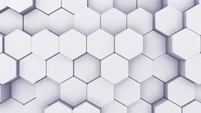Abstrakcjonistycznego sześciokąta Geometryczny wstęp Animowany Nawierzchniowy pętla materiał filmowy Lekki heksagonalny siatka wz ilustracja wektor