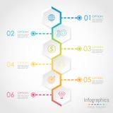 Abstrakcjonistycznego sześciokąta Infographics biznesowi elementy ilustracja wektor