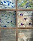abstrakcjonistycznego szkła pobrudzony okno Zdjęcie Stock