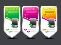 abstrakcjonistycznego sztandaru kolorowy oferty dodatek specjalny Fotografia Stock