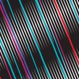 Abstrakcjonistycznego tęczy Eleganckiego Ciemnego widma Kolorowe linie Paskowali Geometrycznego tło wzoru szablonu _75_9 ilustracja wektor