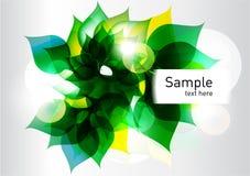 abstrakcjonistycznego tła świezi zieleni liść Obraz Stock