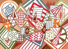 abstrakcjonistycznego tła abstrakcjonistyczny geometryczny ilustracyjny kształtów wektor Zdjęcia Stock