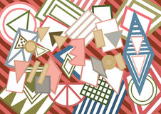 abstrakcjonistycznego tła abstrakcjonistyczny geometryczny ilustracyjny kształtów wektor Obrazy Stock