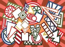 abstrakcjonistycznego tła abstrakcjonistyczny geometryczny ilustracyjny kształtów wektor Fotografia Stock