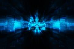 abstrakcjonistycznego tła błękitny świateł cieni technologia Obraz Stock