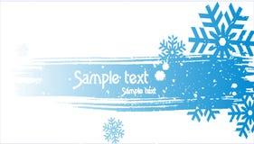 abstrakcjonistycznego tła błękitny bożych narodzeń śniegu wektor Zdjęcie Royalty Free