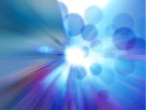 abstrakcjonistycznego tła błękitny bokeh światła wektor Obrazy Royalty Free