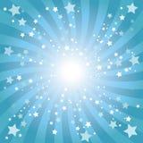abstrakcjonistycznego tła błękitny gwiazda Ilustracja Wektor