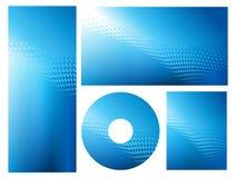 abstrakcjonistycznego tła błękitny jaskrawy graficzny set Fotografia Stock