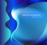 Abstrakcjonistycznego tła błękitny projekt z białym fala wektorem Zdjęcia Stock